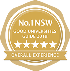 Number 1 NSW Good Universities Guide 2019 5 stars for overall experience